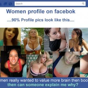 Boobs or Brains- COOL CHICKS PROFILE PICTURES on Facebook