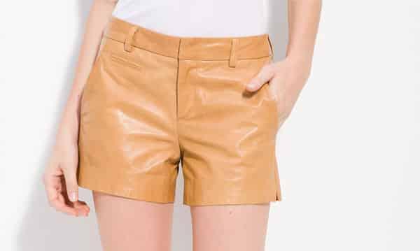 Vince-Lambskin-Leather-Shorts