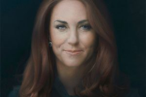 Guess it is a little nerve racking for Duchess of Cambridge, Kate Middleton Portrait
