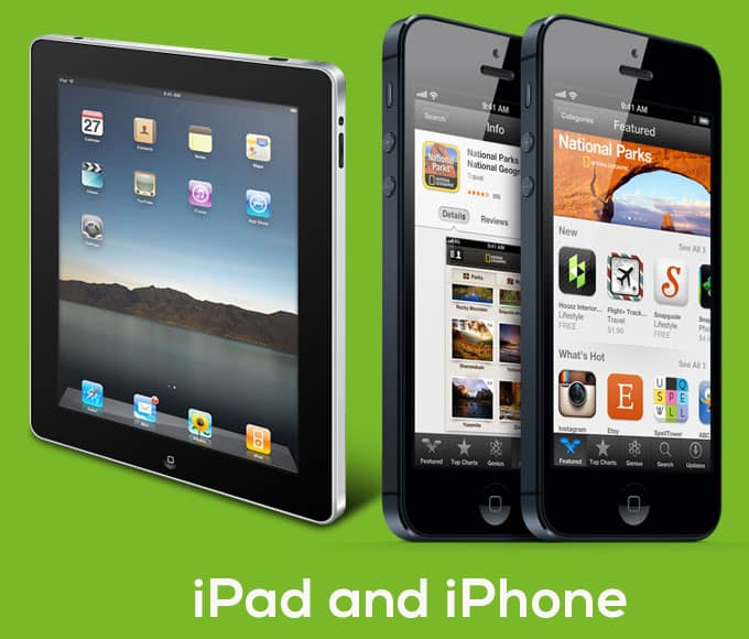 iPad and iPhone