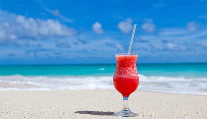 cocktail at Fuerteventura beach Canary Islands