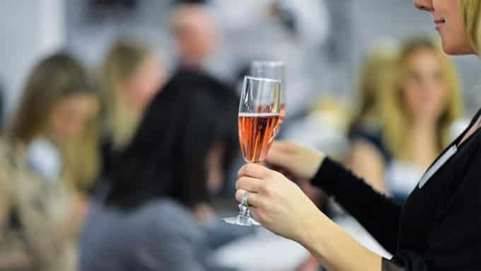 women with wine glass