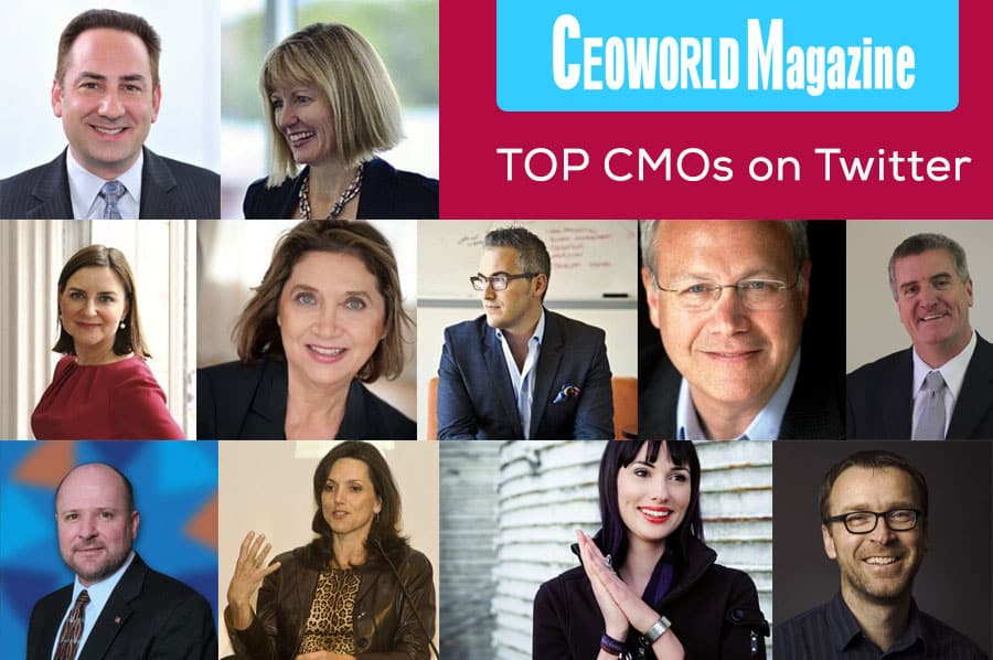 The Top Chief Marketing Officers (CMOs) That You Should Consider Following On Twitter