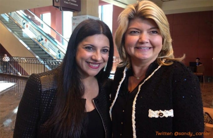 Sandy Carter with Reshma Saujani
