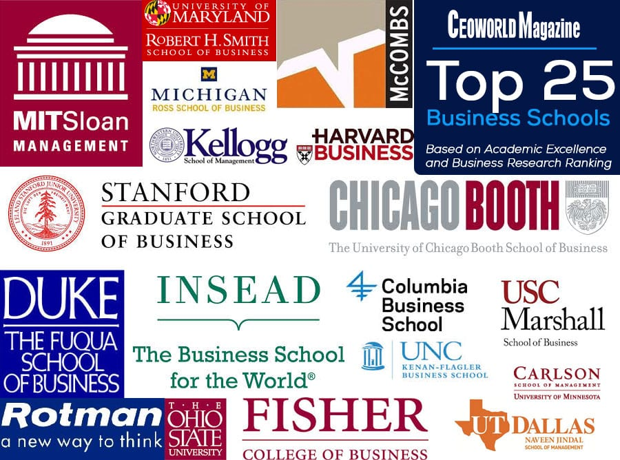 Top 25 Business Schools Based On Academic Excellence And Business Research Ranking