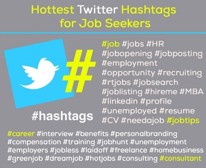 Top Twitter Hashtags for Job Seekers