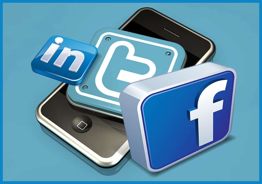 Twitter, Facebook, LinkedIn
