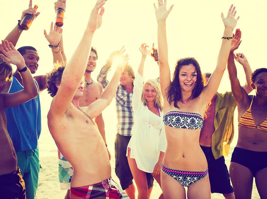Young Entrepreneurs Dancing at Summer