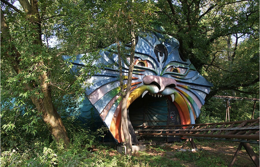 Spreepark (Kulturpark) amusement park in Berlin, Germany