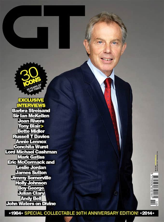 Tony Blair on Gay Times