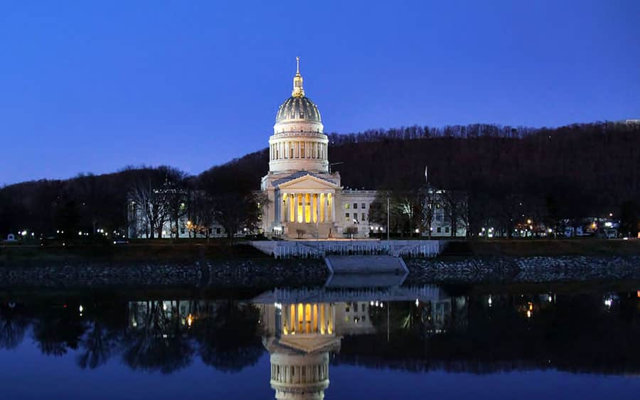 The West Virginia State Capitol Building in Charleston, WV
