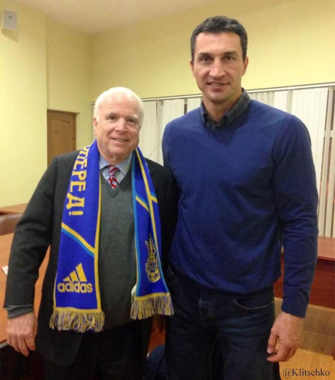 Wladimir Klitschko with John McCain