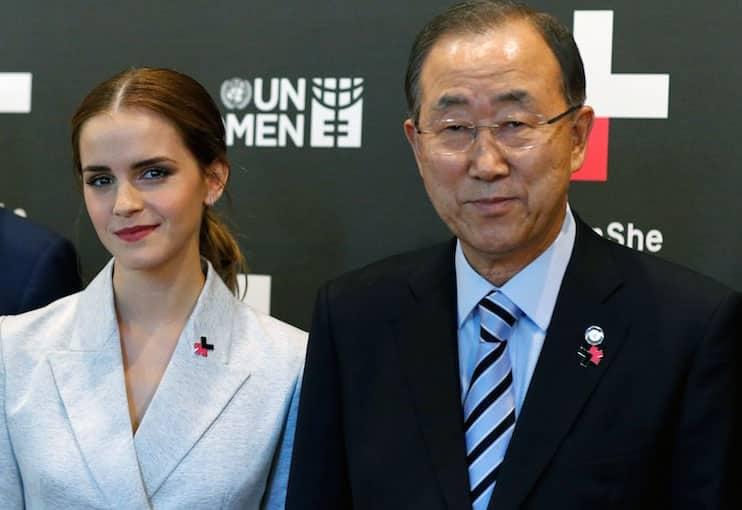 Emma Watson with Ban Ki-moon