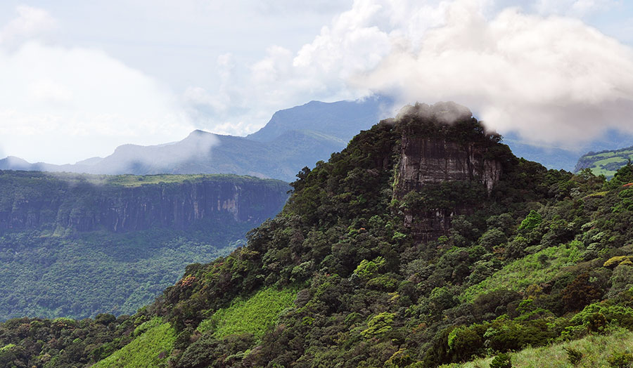 Knuckles Mountain Range in Sri Lanka