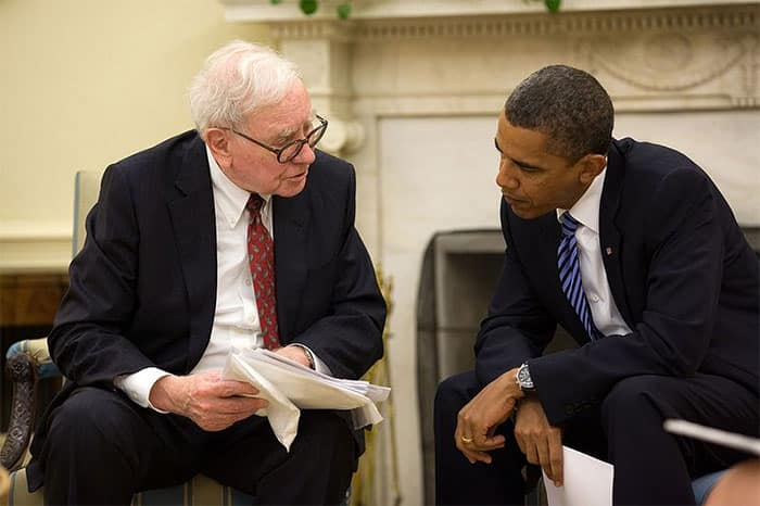 Warren Buffett and Barrack Obama