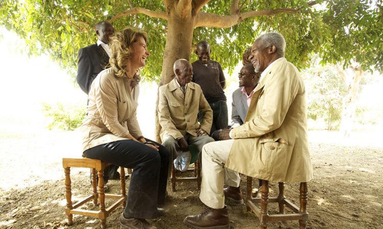 Melinda Gates met with Kofi Annan