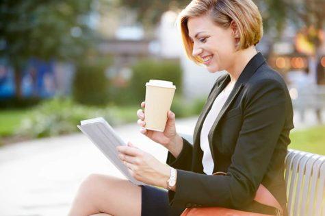 Smiling Business Woman Entrepreneur