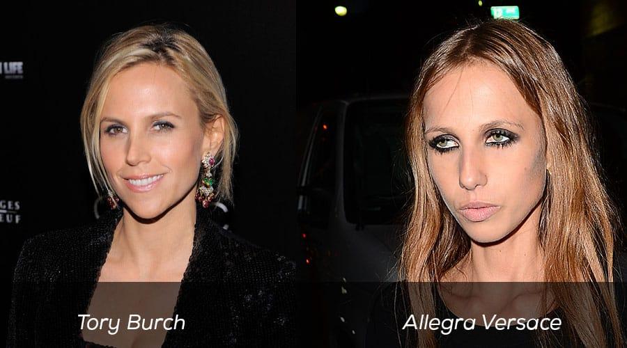 Tory Burch and Allegra Versace