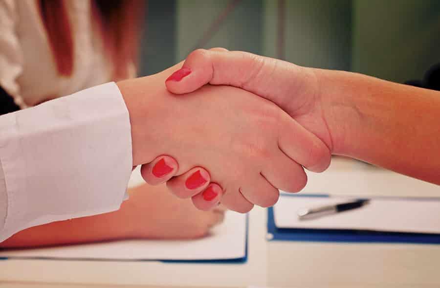 Impressive Business Handshake