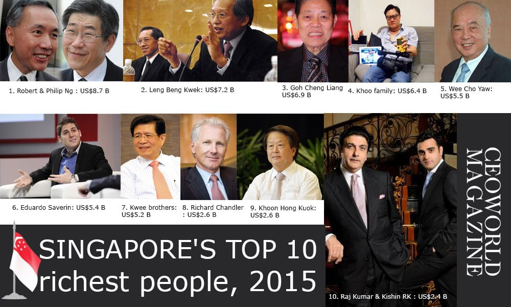 Singapore's Top 10 Richest People By Net Worth In 2015