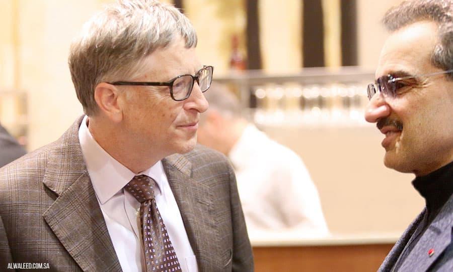 Bill Gates and Prince Alwaleed bin Talal