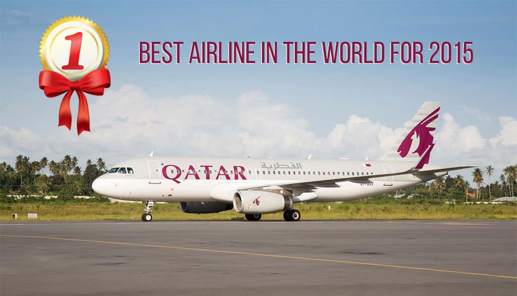 Qatar Airways has been named the best Airline in the World for 2015