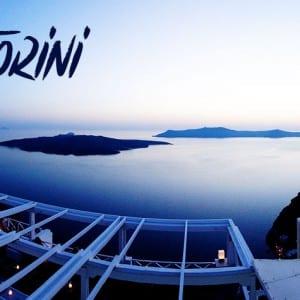 Catching a Santorini Sunset