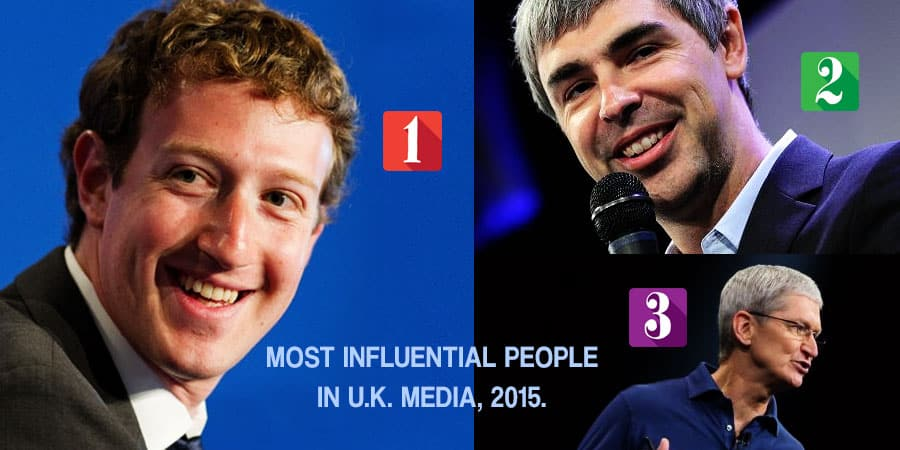 Most Influential People In UK Media, 2015 List