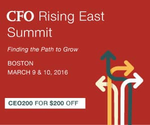 CFO Rising East Summit  Boston 2016