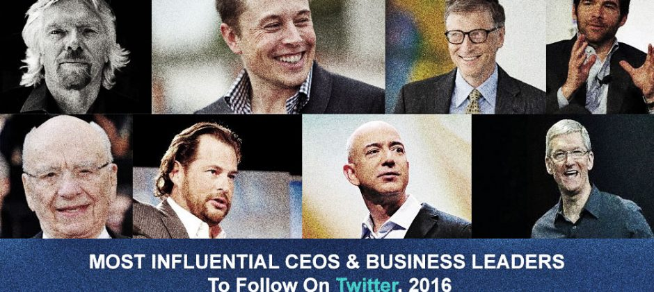 Most Influential CEOs And Business Leaders To Follow On Twitter, 2016