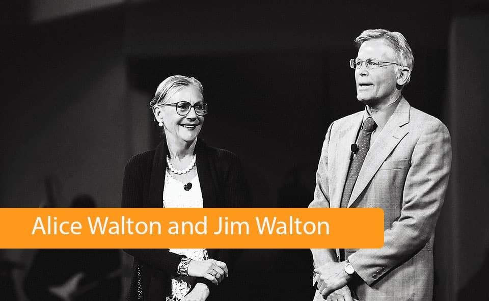 Alice Walton and Jim Walton
