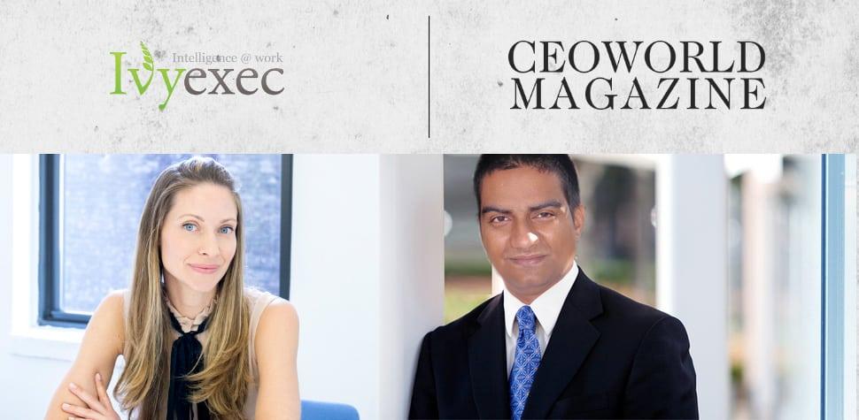 CEOWORLD Magazine Ivy Exec and Amarendra Bhushan Dhiraj Elena Bajic