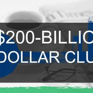 The 200 Billion Dollar Club: World's Largest Companies By Market Capitalization, 2016