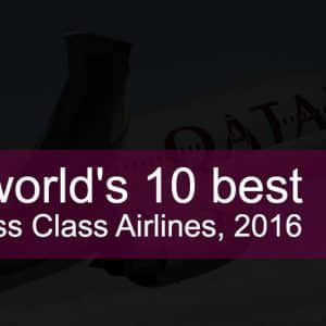 RANKED: The World's 10 Best Business Class Airlines, 2016