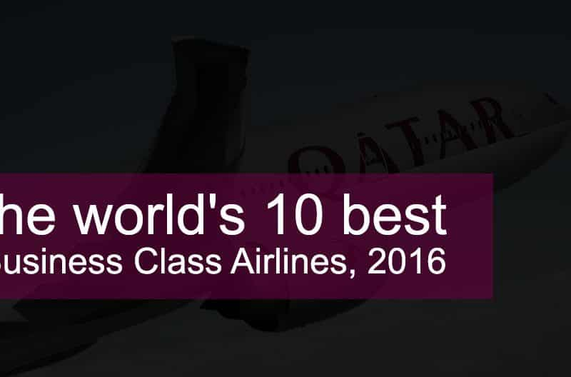 Best Business Class Airlines 2016