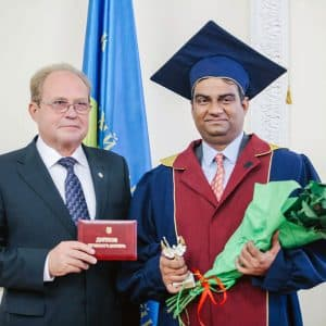 Amarendra Bhushan Dhiraj conferred with honorary doctorate by Ukraine's Kyiv National University of Technologies and Design (KNUTD)
