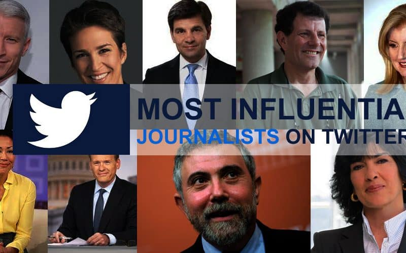 Most Influential Journalists On Twitter