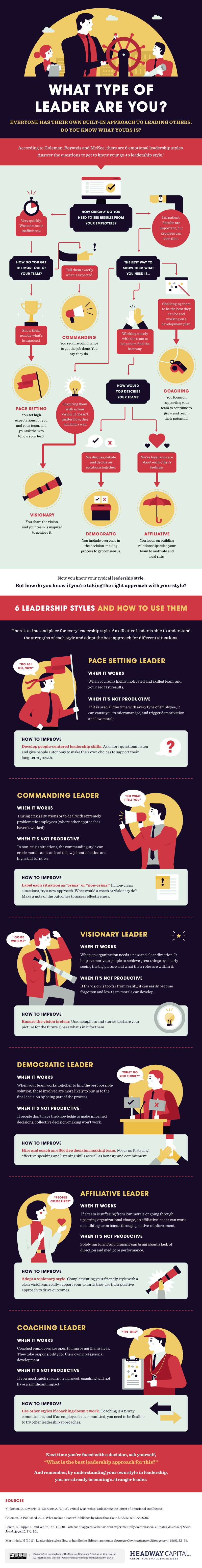 What Type of Leader Are You Infographic
