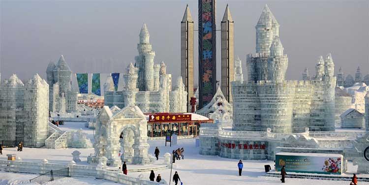 Harbin city in China
