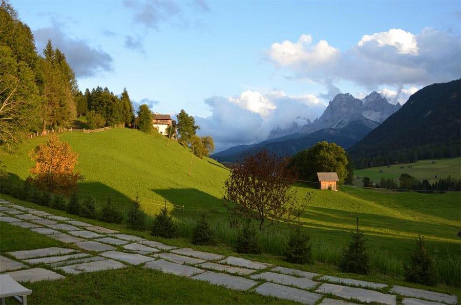 Dolomite Mountains - village of Sesto Italy