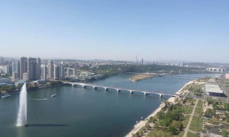 Taedong River, Pyongyang, North Korea