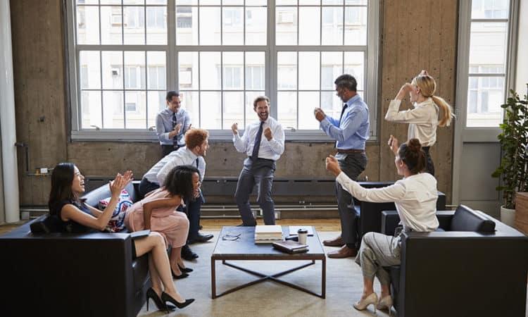 Business Team Celebrate Success