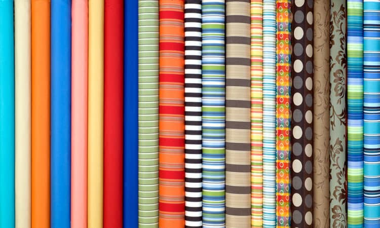 Fabric in many colors