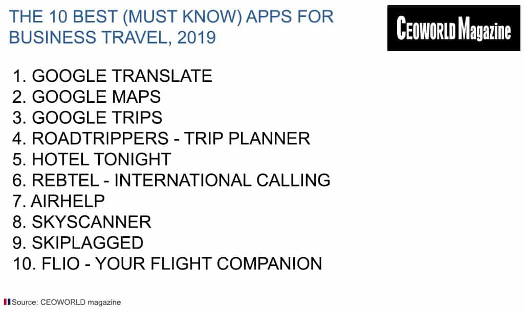 Best (Must Know) Apps For Business Travel, 2019