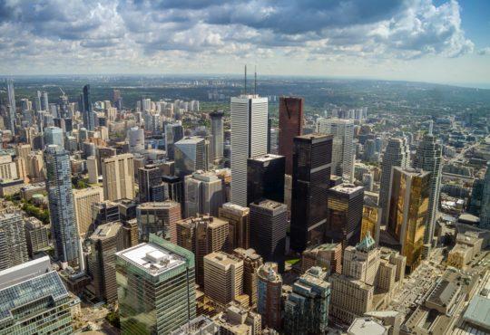 Toronto business centre, Canada