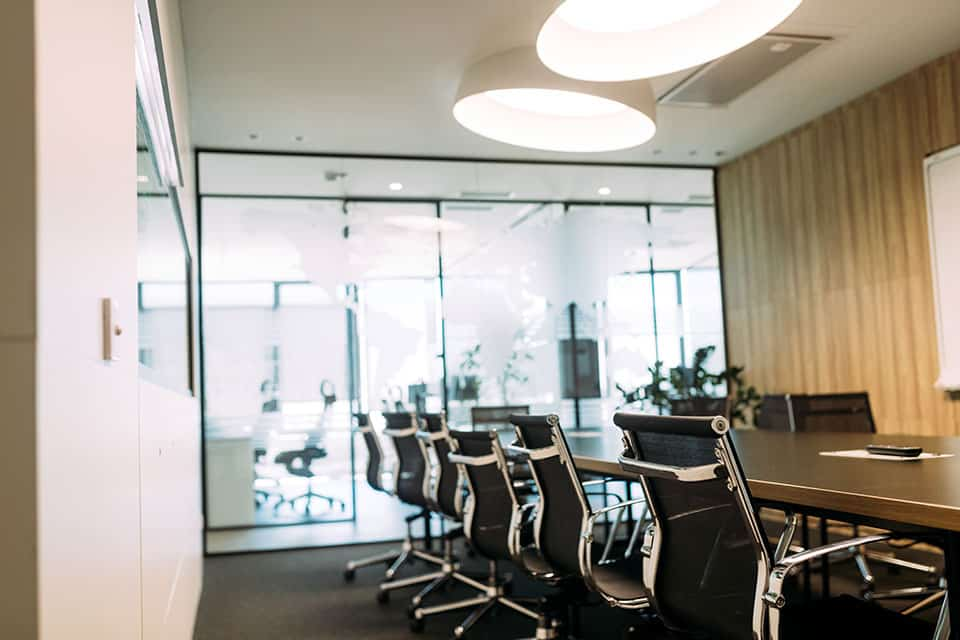 Business meeting room or board room