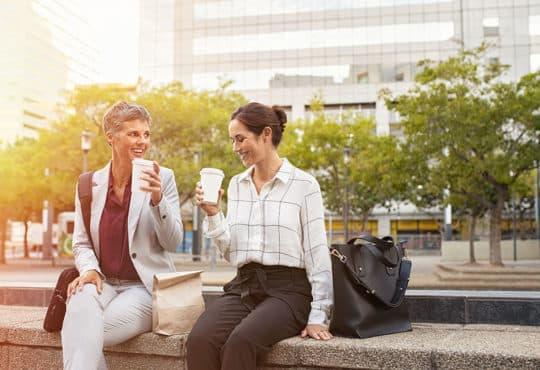 Happy business women