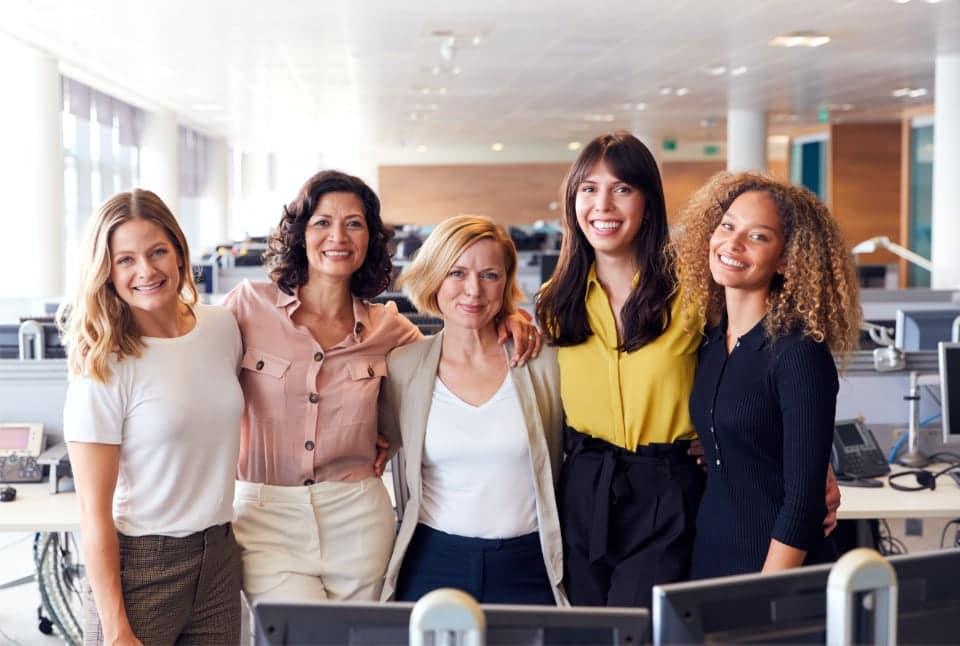 Smiling Female Business Team