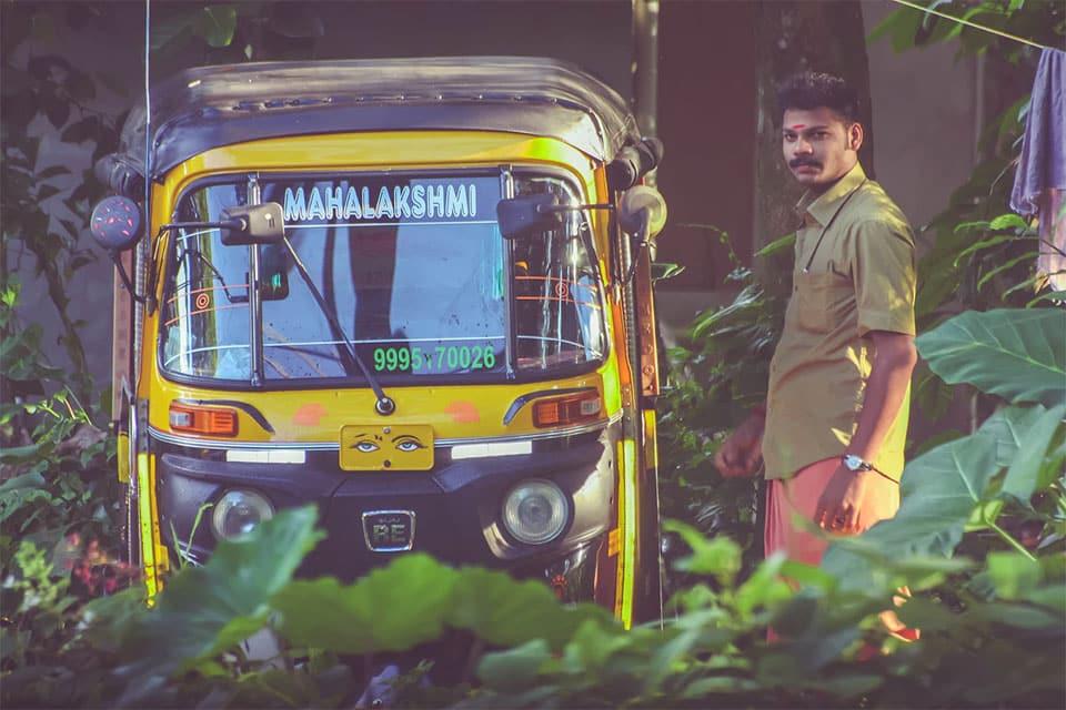 Auto rickshaw Kottayam Kerala India