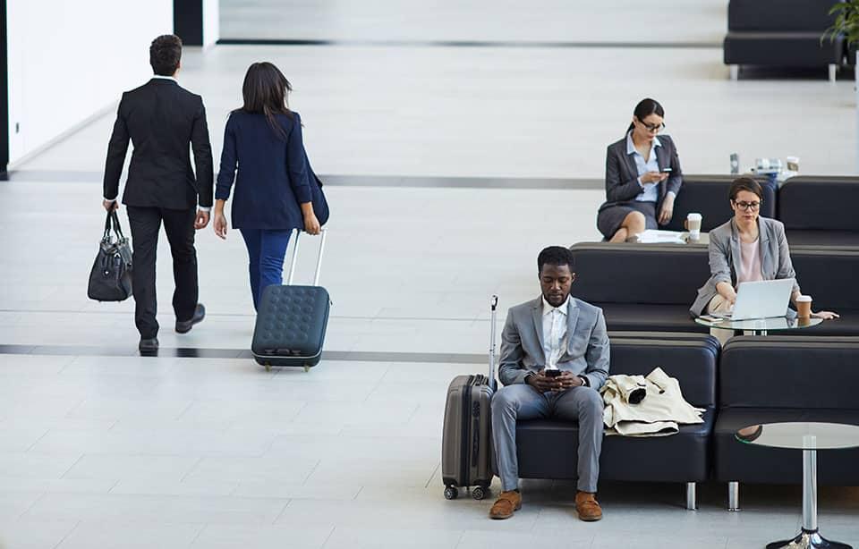 Business class passengers